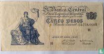 Argentinië 5 Pesos 1951