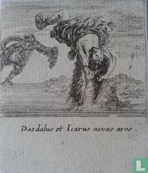 4. Daedalus et Icarus novae aves (Daedalus en Icarus zijn nieuwe vogels); 54 x 64mm