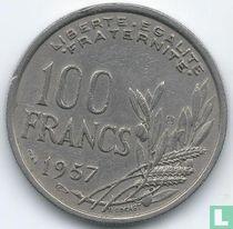 Frankrijk 100 francs 1957 (met B)