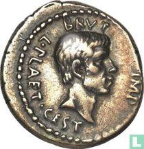Romeinse Rijk, AR Denarius, 44-42 BC, Marcus Junius Brutus, mobile mint northern greece, 42 BC