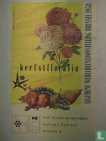 Affiche Wereldtentoonstelling Brussel 1958 - Herfstfloralia