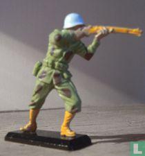 UN soldaat ( blauwhelm )