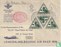 Amsterdam-London-Melbourne race