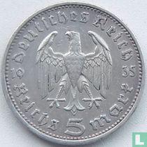 Duitse Rijk 5 reichsmark 1935 (A)