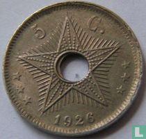 Belgian Congo 5 centimes 1926