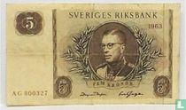 Schweden 5 Kronor 1963