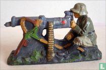 Duitse infanterist  met machinegeweer