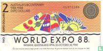 Australië 2 Dollars 1988 (World Expo)