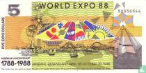 Australië 5 Dollars 1988 (World Expo)