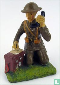 Soldier with telephone