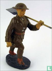 Soldier with shovel