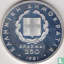 "Griekenland 250 drachmai 1981 (PROOF) ""1982 Pan-European Games in Athens"""