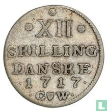 Denemarken 12 skilling 1717