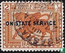 Babylonische Relief, mit Aufdruck
