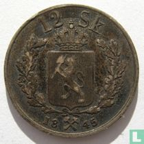 Norwegen 12 Skilling 1845