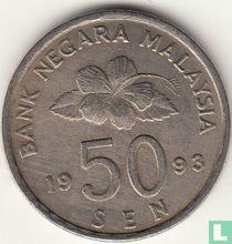 Maleisië 50 sen 1993