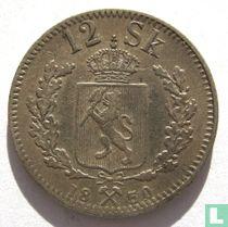 Norwegen 12 Skilling 1850 (V. KONGE)