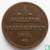 Norwegen ½ Skilling 1841 (Star unter Münzzeichen)