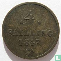 Norwegen 4 Skilling 1842