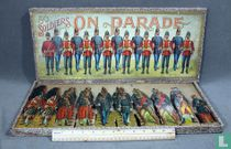 Set cardboard toy soldiers
