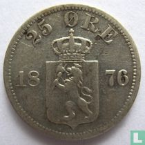 Norwegen 25 Øre 1876