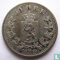 Norwegen 50 Øre 1893
