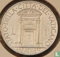 """Vaticaan 1 lira 1950 """"Heilig Jaar"""""""
