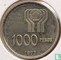 """Argentina 1000 pesos 1977 """"1978 Football World Cup in Argentina"""""""