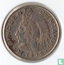Mexico 50 centavos 1975 (met stippen)