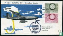 1. Flug Boeing-Jet Brüssel-Mexiko