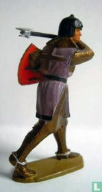 Knight with shield and axe