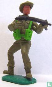 Soldaat met machinepistool