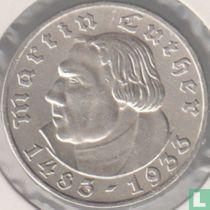 "Duitse Rijk 5 reichsmark 1933 (A) ""450e geboortejaar van Martin Luther"""
