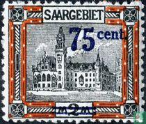 Stadhuis van Saarbrücken, met opdruk