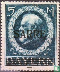 Opdruk Sarre op zegels Beieren
