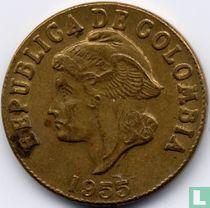 Colombia 2 centavos 1955 (zonder muntteken)