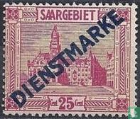 Hôtel de ville de Sarrebruck, avec impression