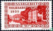 Kaserne Saarlouis gedruckt VOLKSABSTIMMUNG 1935