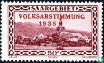 Abtei Tholey mit Prägung VOLKSABSTIMMUNG 1935