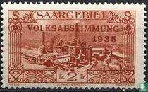 VOLKSABSTIMMUNG in Burbach Stahlwerken mit Prägung 1935