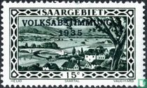 Tal der Saar bei Güdingen B mit Prägung VOLKSABSTIMMUNG 1935