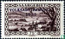 Tal der Saar bei Güdingen B mit Prägung VOLKSABSTIMMUNG