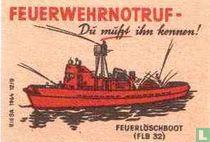 Feuerwehrnotruf -Feuerloschboot