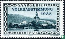 Tholey Abbey gedruckt VOLKSABSTIMMUNG 1935