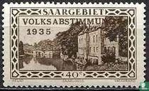Vaubankazerne in Saarlouis mit Prägung VOLKSABSTIMMUNG 1935