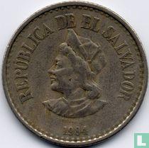 El Salvador 1 colón 1984