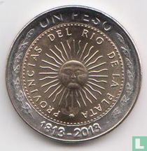 "Argentinië 1 peso 2013 ""Bicentenary of the First Patriotic Coin"""