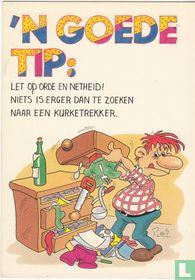 'n goede tip: let op orde en netheid! niets is erger dan te zoeken naar een kurkentrekker.