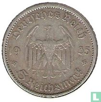 "Duitse Rijk 5 reichsmark 1935 (A) ""1st Anniversary of Nazi Rule - Potsdam Garrison Church"""