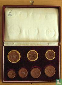 Saksen set keramisch noodgeld 1921 Meissen